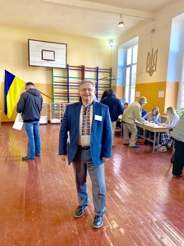 M. Lewko at the electoral district in Lviv
